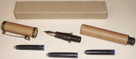 Wood handle & Gilt nib set