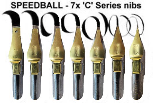 Speedball C series nibs