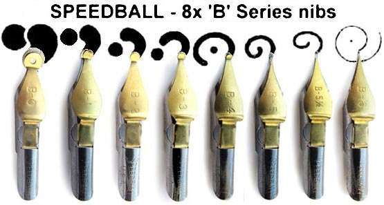 Speedball B series nibs